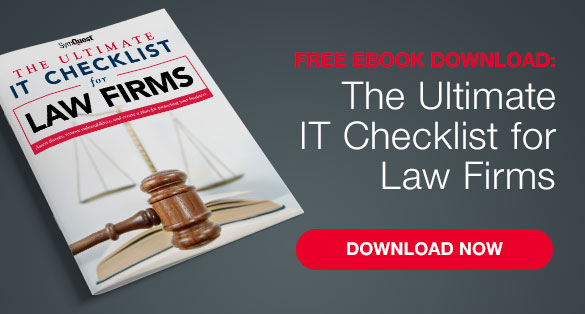 IT checklist for law firms call to action
