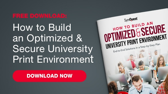 how to build an optimized and secure university print environment