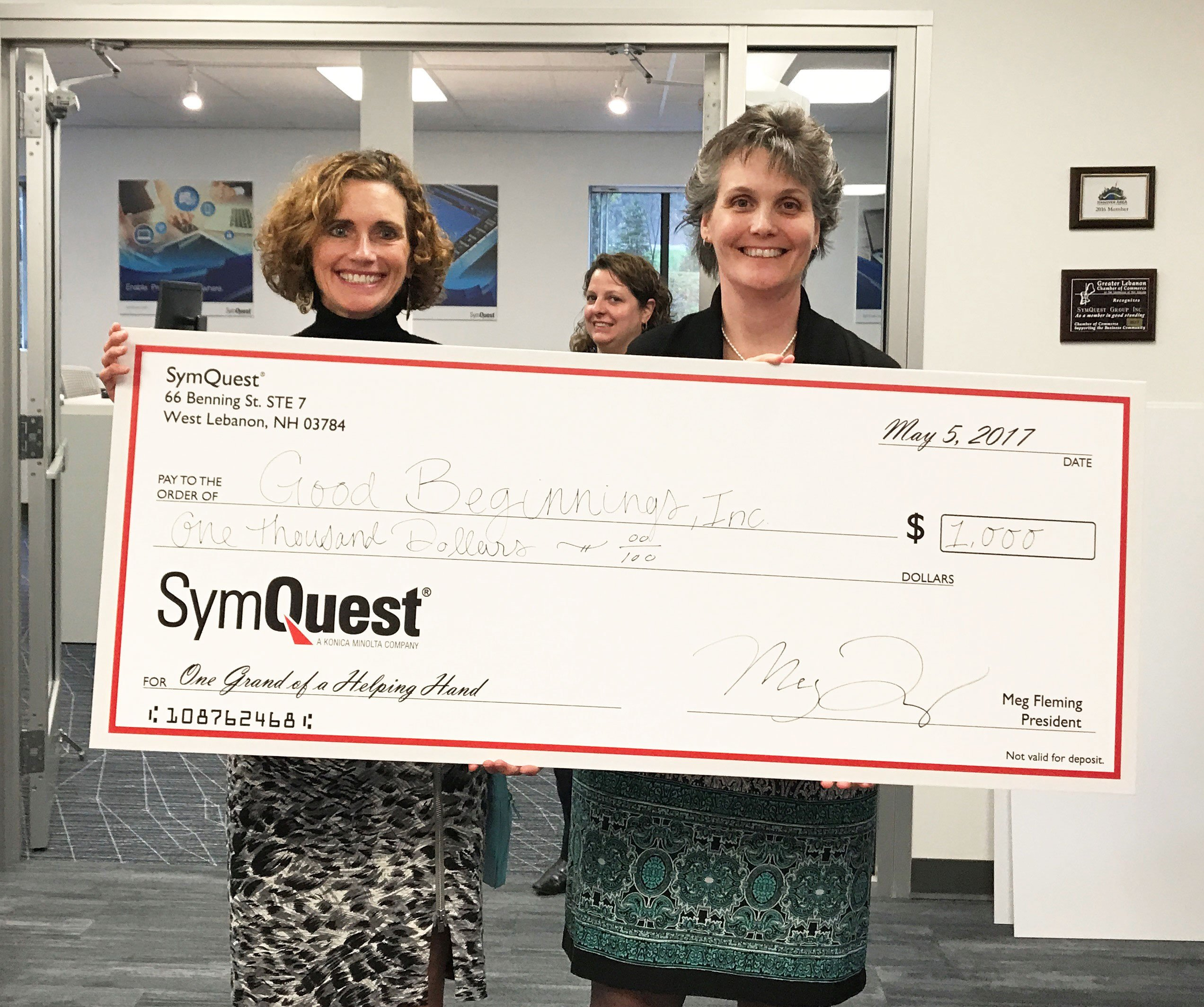 SymQuest Donates $11,000 to New Hampshire Area Nonprofits