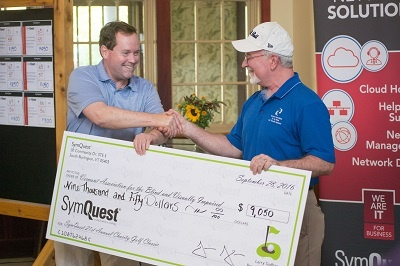 SymQuest Hosts 21st Annual Golf Tournament – Raises $9k for Vermont Assoc. for the Blind and Visually Impaired